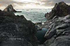 Schöne Ansicht von Ozean Lizenzfreies Stockfoto