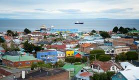 Schöne Ansicht von Punta Arenas Stockfotografie