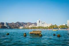 Schöne Ansicht von Rodadero-Strand Santa Marta Stockfotografie