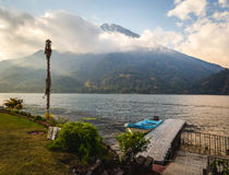 Schöne Ansicht von See Atitlan, Guatemala Stockfotos