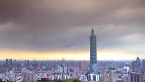 Schöne Ansicht von Taipeh-Stadt, Taiwan (Zeitspanne) stock video