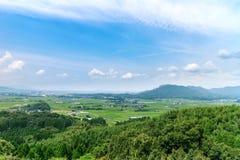 Schöne Ansicht von um kikuchi Schloss in Kumamoto-perfecture, Japan lizenzfreies stockbild