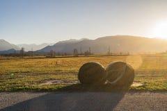 Schöne Ansicht zum Murnauer Moos im Bayern Stockfotos