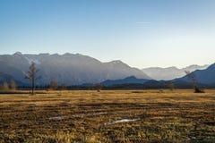 Schöne Ansicht zum Murnauer Moos im Bayern lizenzfreie stockfotos