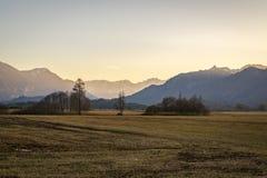 Schöne Ansicht zum Murnauer Moos im Bayern Lizenzfreie Stockbilder