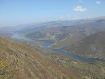 Schöne Ansicht zum See Zavoj, Südost-Serbien lizenzfreie stockbilder