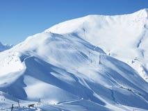 Schöne Ansicht zum Skiort in Adelboden, Berner Oberland Stockbilder