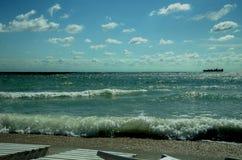 Schöne Ansichten der Schwarzmeerküste lizenzfreie stockfotografie
