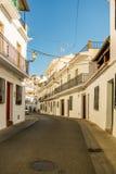 Schöne Ansichten und Straßen von Frigiliana, Dorf von Màlaga stockbild