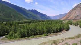 Schöne Ansichten von Fluss Chuya und Chuysky Trakt stock video