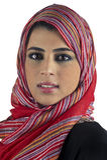 Schöne arabische Dame, die traditionelles islamisches trägt Lizenzfreies Stockfoto