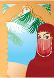 Schöne arabische Frau tragendes yashmak Lizenzfreie Stockbilder