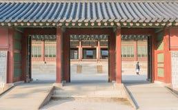 Schöne Architektur in Deoksugungs-Palast an Seoul-Stadt, Kore Stockbild