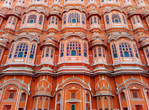 Schöne Architektur des Windpalastes, Jaipur, Rajasthan, Indien lizenzfreies stockfoto