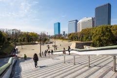 Schöne Architektur, die Osaka errichtet Stockfotografie