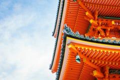 Schöne Architektur in Kiyomizu-deratempel Kyoto, Japan Lizenzfreie Stockfotos
