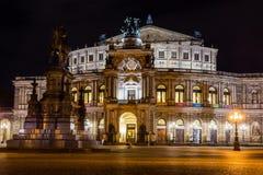 Schöne Architektur-Kultur MO Dresden-Opernhaus Staatsoper stockbild