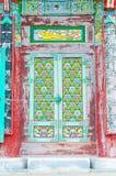 Schöne Architektur an Tempel Haedong Yonggungsa sitzt nach a stockfotos
