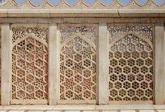 Schöne Architektur- und Designanzeige bei Diwan-i-Khas von Agra-Fort Stockbild