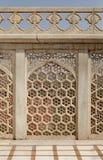 Schöne Architektur- und Designanzeige bei Diwan-i-Khas von Agra-Fort Stockfoto