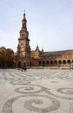 Schöne Architektur von Gebäude Plaza de España mit beauti Stockfotos