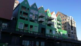 Schöne Architektur in Zandam stockfotografie
