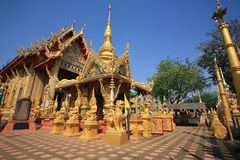 Schöne Architekturlandschaft von Wat Tai Stockbilder