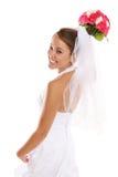 Schöne asiatische Braut an der Hochzeit Lizenzfreie Stockbilder
