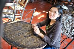 Schöne asiatische Frau Lizenzfreie Stockfotos