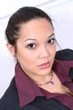 Schöne asiatische Frau Stockfotografie