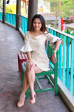 Schöne asiatische Frau des Porträts Lizenzfreie Stockbilder