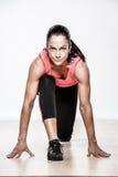 Schöne athletische Frau Stockbilder