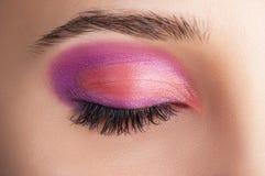 Schöne Augen-Retro Art-Make-up Stockfoto