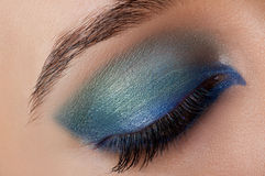 Schöne Augen-Retro Art-Make-up Lizenzfreies Stockfoto