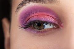 Schöne Augen-Retro Art-Make-up lizenzfreie stockbilder