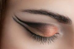 Schöne Augen-Retro Art-Make-up Lizenzfreies Stockbild