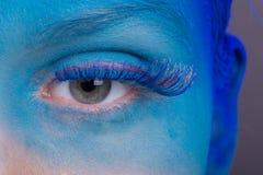 Schöne Augen-Retro Art-Make-up Stockbild