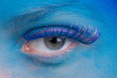 Schöne Augen-Retro Art-Make-up Lizenzfreie Stockfotos
