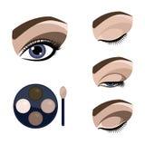 Schöne Augen-Retro Art-Make-up Stockbilder