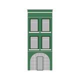 Schöne ausführliche lineare Stadtbildsammlung mit Stadtwohnungen Kleinstadtstraße mit Victoriangebäudefassaden Lizenzfreie Stockfotos