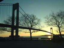 Schöne ausgedehnte Brücke Lizenzfreies Stockfoto