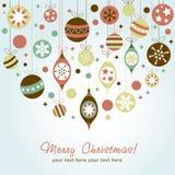 Schöne Auslegung Weihnachtsgrußkarte Stockbilder