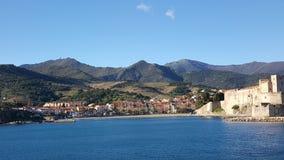 Schöne Aussicht in Collioure Stockbild