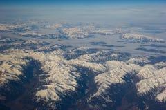 Schöne Aussicht der Alpen. Stockbild