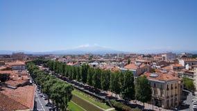 Schöne Aussicht in Perpignan Stockbilder
