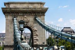 Schöne Aussicht von einigen der Brücken von Budapest, vom schönen Wetter und von erstaunlichem Platz Stockfoto
