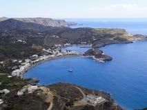 schöne Aussicht zur Bucht in Griechenland lizenzfreie stockbilder