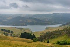 Schöne australische Landschaft mit See Lyell NSW, Australien Lizenzfreie Stockfotos