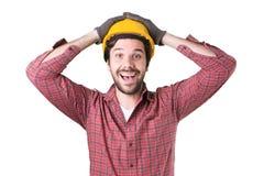 Schöne bärtige Mannarbeitskraft Lizenzfreie Stockfotos