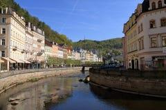 Schöne Badekurort-Stadt Karlovy Vary stockbilder